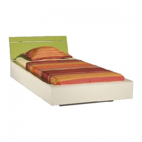 Łóżko LABIRYNT LA22 - kremowy + limetka