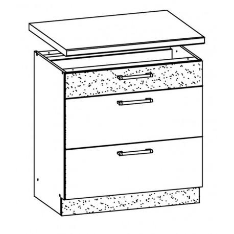 MODENA - szafka dolna MD28/D80S3