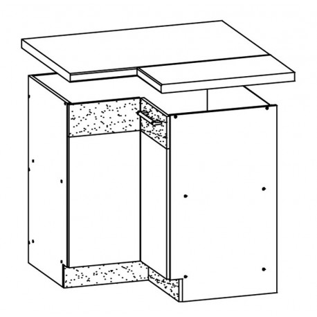 MODENA - szafka dolna MD21/D90NW narożna