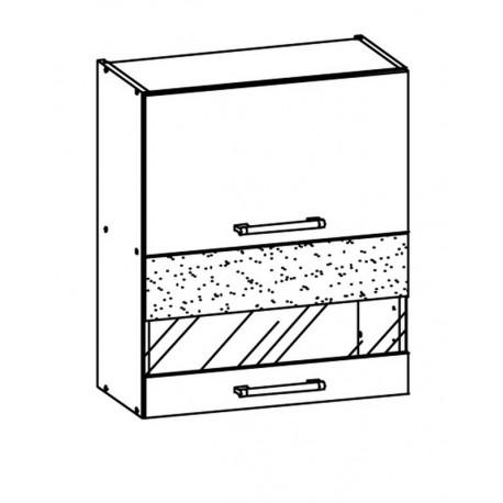 MODENA - szafka górna MD8/G60W witryna