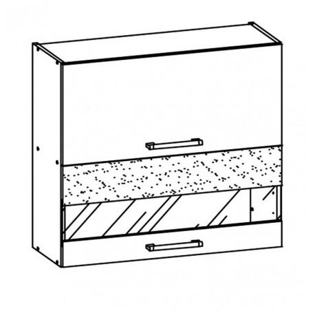 MODENA - szafka górna MD9/G80W witryna