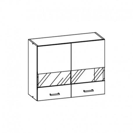 ELIZA - szafka górna EZ6/G80W witryna