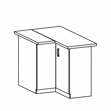 ROYAL - szafka dolna narożna D90N