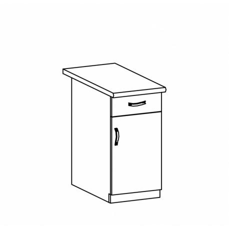 ASPEN - szafka dolna D40S1 - prawa