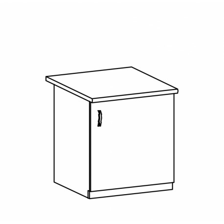 ASPEN - szafka dolna D60 - prawa