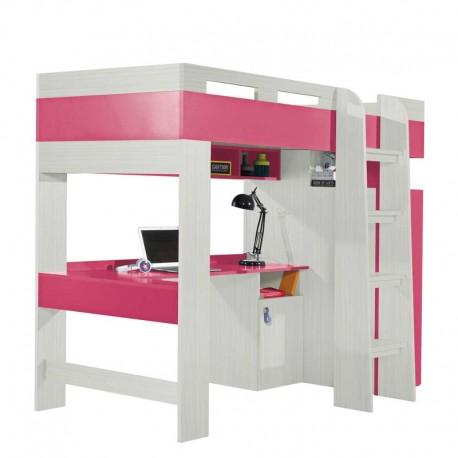 Łóżko piętrowe z biurkiem KOMI KM20