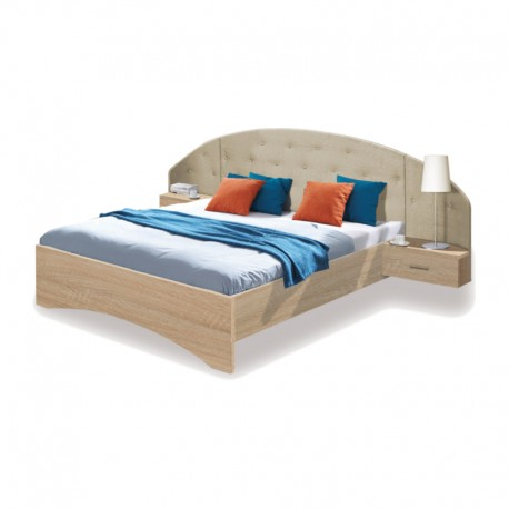 Łóżko z szafkami nocnymi UNICO