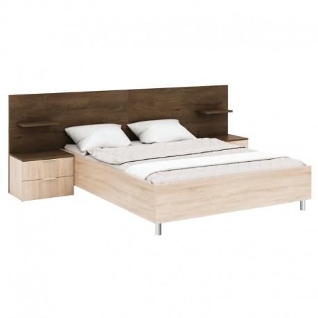 Łóżko z szafkami nocnymi CARMEN